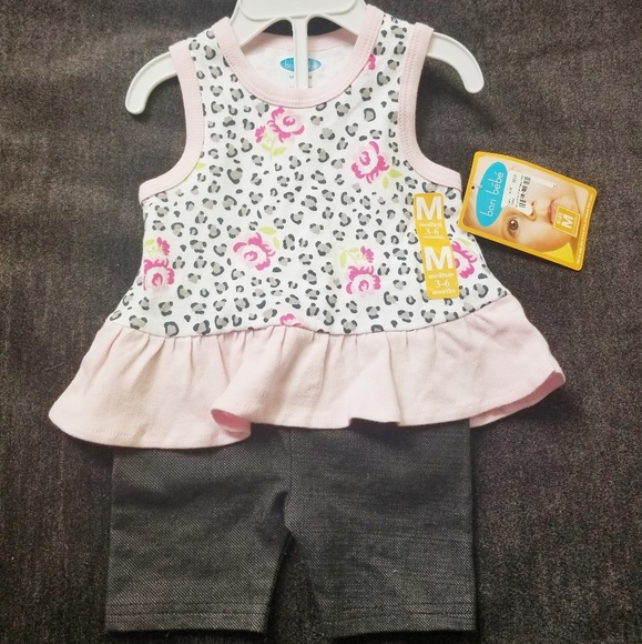 Bon Bebe Other - Baby Girl Pink 2 pc Shorts Set- 3/6 M-NWT